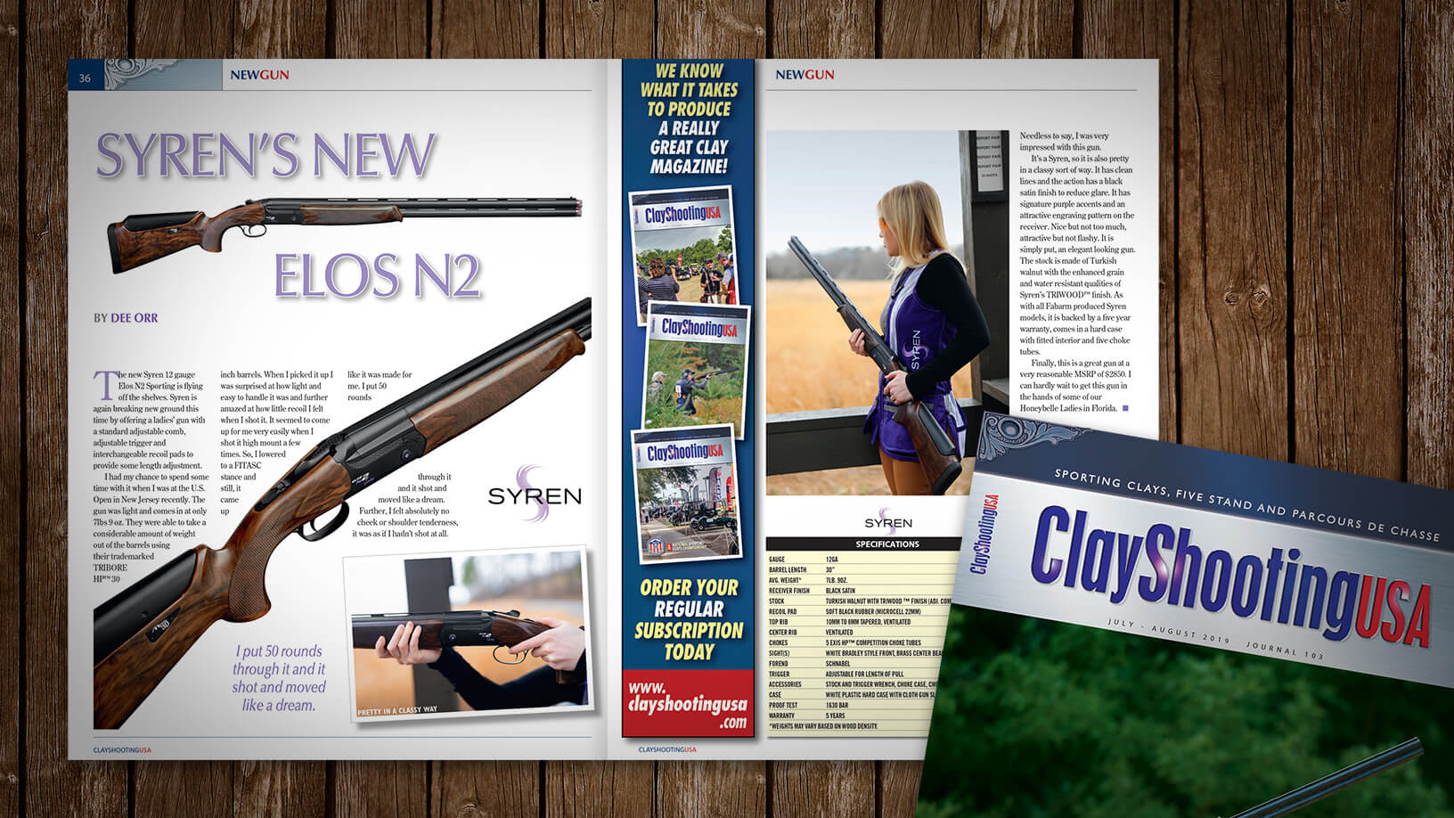 [Clay Shooting USA: 07:19] Gun Review: Syren Elos N2 Sporting